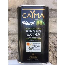 AOVE caYma cosecha propia D.O.P. Sierra de Cazorla Aceite de Oliva Virgen Extra lata 500ml variedad picual